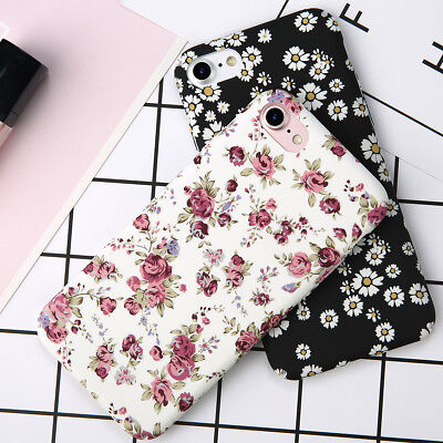 Flowers Fashion Pattern Hard Case Shockproof Cover For Apple iPhone 8 6s 7 Plus ()