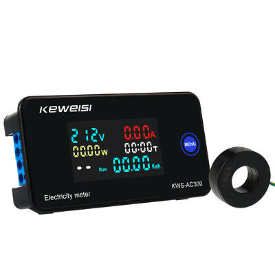 6 In 1 Digital Ac 50-300v 100a Multimeter Voltage Current Power Temp Panel Meter