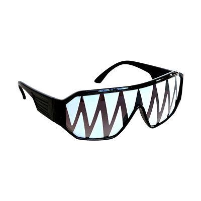 Macho Schwarz Shark Tooth Sonnenbrille Randy Savage Kostüm Wrestler Party Wwf (Wwf Wrestling Kostüme)