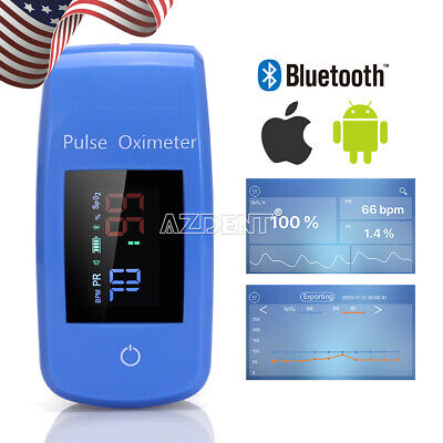 Mobile Bluetooth Finger Pulse Oximeter Blood Oxygen Heart Rate Monitor Portable