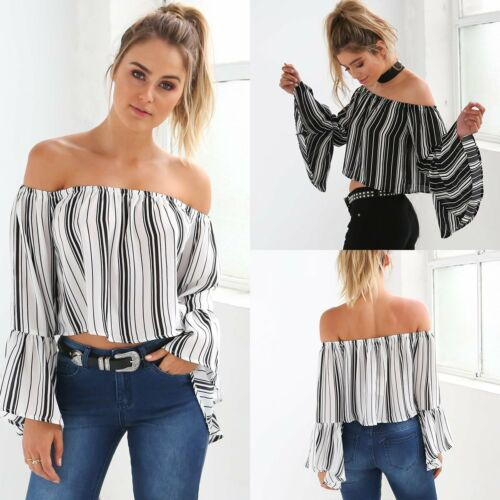 Fashion Women's Lady Summer Long Sleeve Loose Blouse Casual Shirt Tops T-Shirt