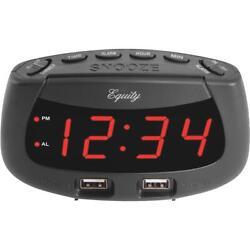 La Crosse Technology Equity Dual USB Electric Alarm Clock 30416  - 1 Each