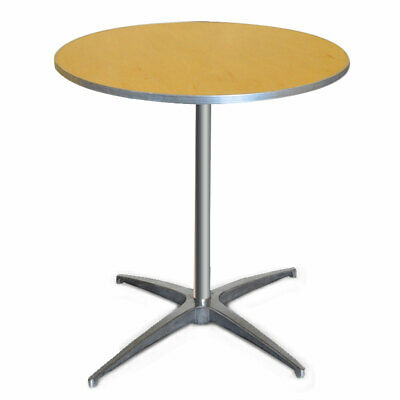 30 Round Bistro Table Heavy Duty 2 Adjustable Height Cocktail Event Party Table