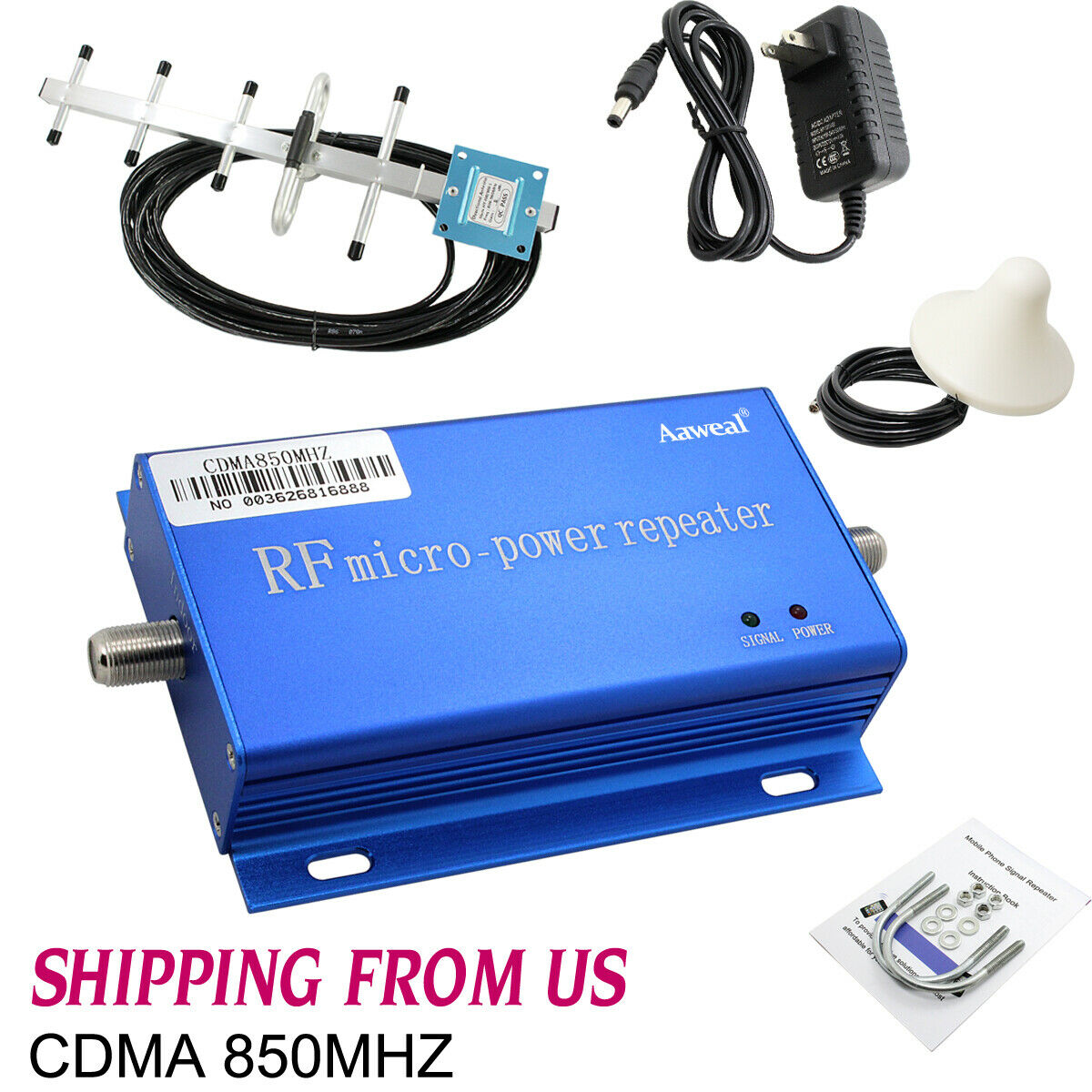 850MHZ CDMA Cell Phone Signal Booster Amplifier Home Mobile