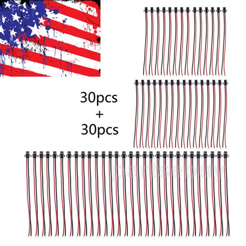 30set 60pcs New Jst Sm 2 Pins Plug Male & Female Wire Connector LED Light Strip
