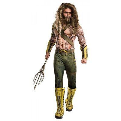 Deluxe Aquaman Costume DC Comics Halloween Fancy Dress (Halloween Costume Dc)