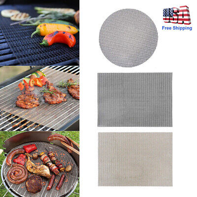 3X Reusable BBQ Grill Mat Bake Non-Stick Grilling Mats Barbecue Pad Baking Liner