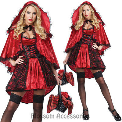 CA113 Deluxe Little Red Riding Hood Storybook Fancy Dress Up Halloween Costume ()