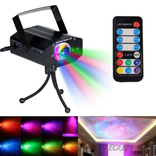 Water Ripples lights Projector, Sound Activated Party Lights LED Stage Lights