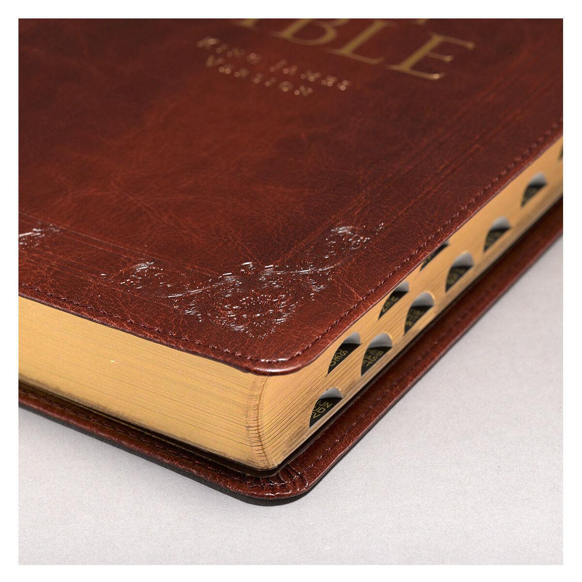 Купить KJV Holy Bible King James Version Thumb Indexed Burgundy Faux Leather Gift Bible