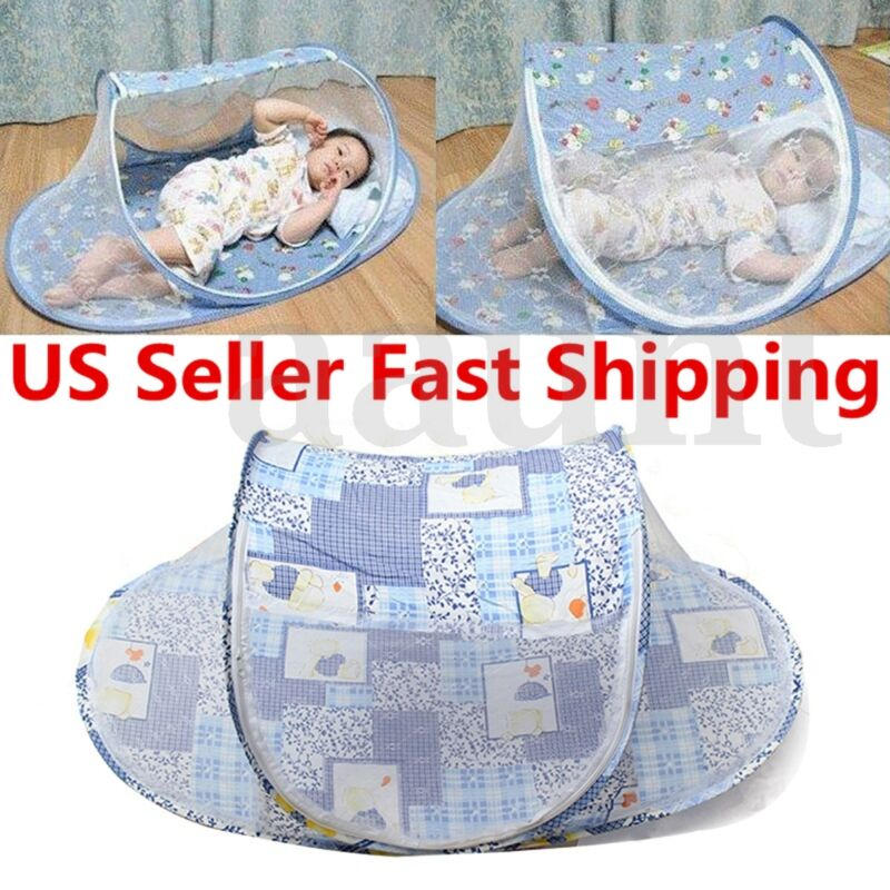 Portable Baby Kids Summer Mosquito Foldable Tent Home Travel Net Bed Crib