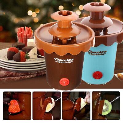 2 Tier Chocolate Fondue Fountain Maker Heated Waterfall Melt