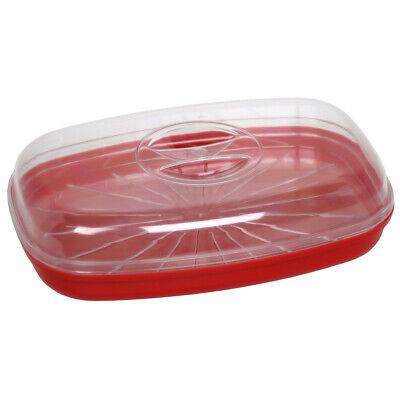 Easy Cook Pez Escalfador/Vaporizador, Rojo Microondas Accesorios Comida Trabajo