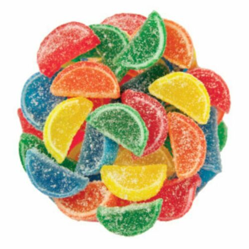 ASSORTED MINI FRUIT SLICES CANDY - BULK - FRESH - 1/4LB to 10LBS - FREE SHIPPING