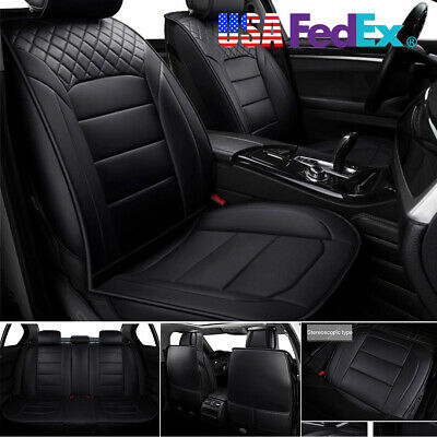Full Surrounded 5-Seat Car Seat Cover Thicken Durable PU leather US Shipment