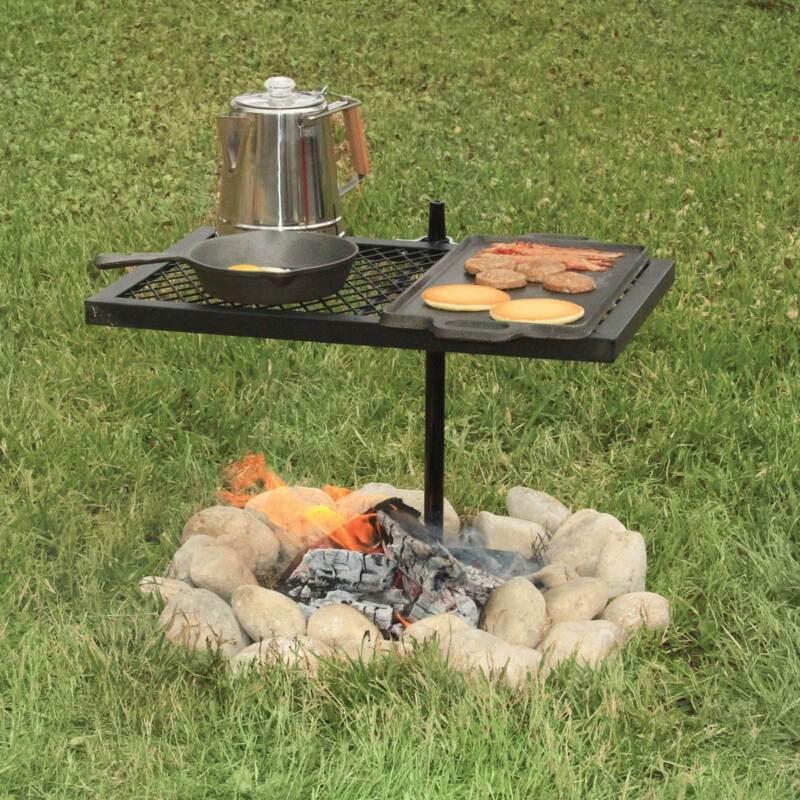 Texsport 24 x 16 Steel Adjustable Outdoor Open Flame Swivel Grill (Open Box)