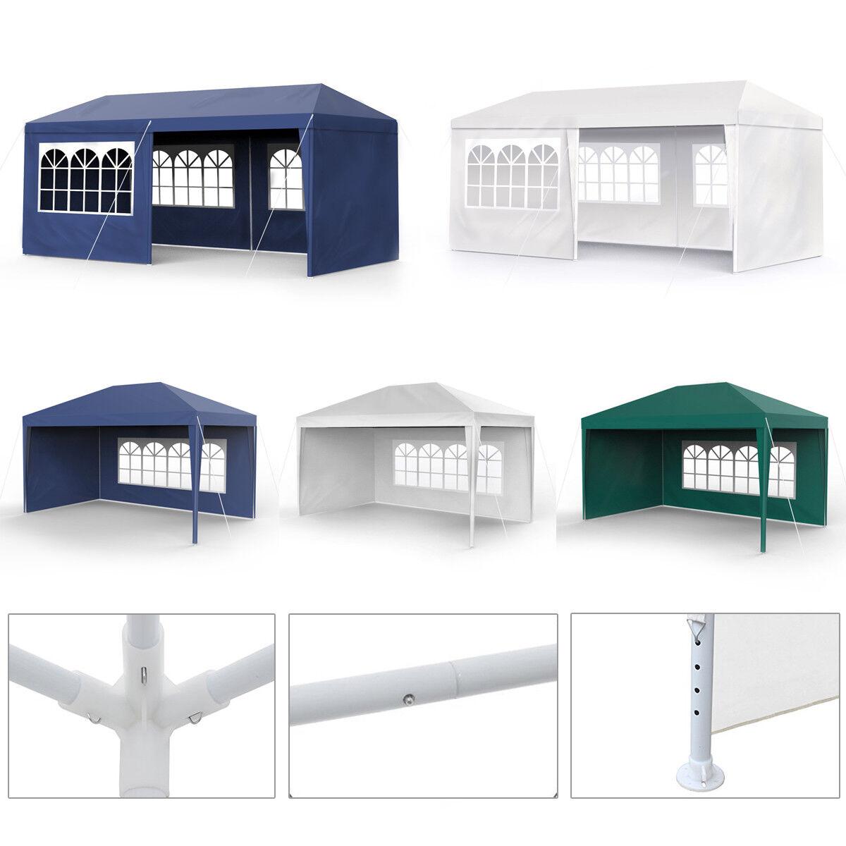 Partyzelt 3x4m 3x6m Festzelt Vereinszelt Gartenzelt Zelt Pavillon Wasserdicht