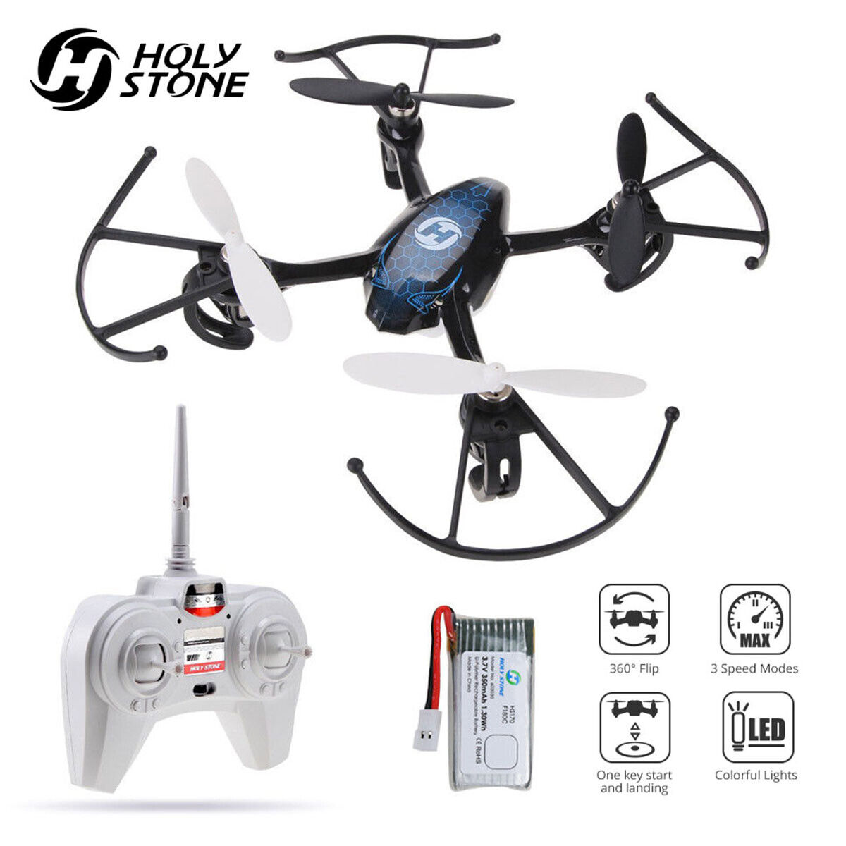 Holy Stone HS170 Predator Mini RC Drone Quadcopter Beginner Best gift for kids