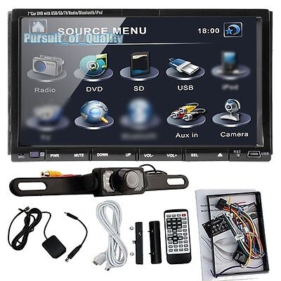 "Double 2 Din 7"" Car DVD CD MP3 Player Touch Screen In Dash Stereo Radio Camera P on Rummage"