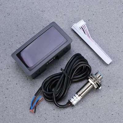 Auto Digital Engine Tachometer Drehzahlmesser Betriebsstundenzähler Schwarz DE