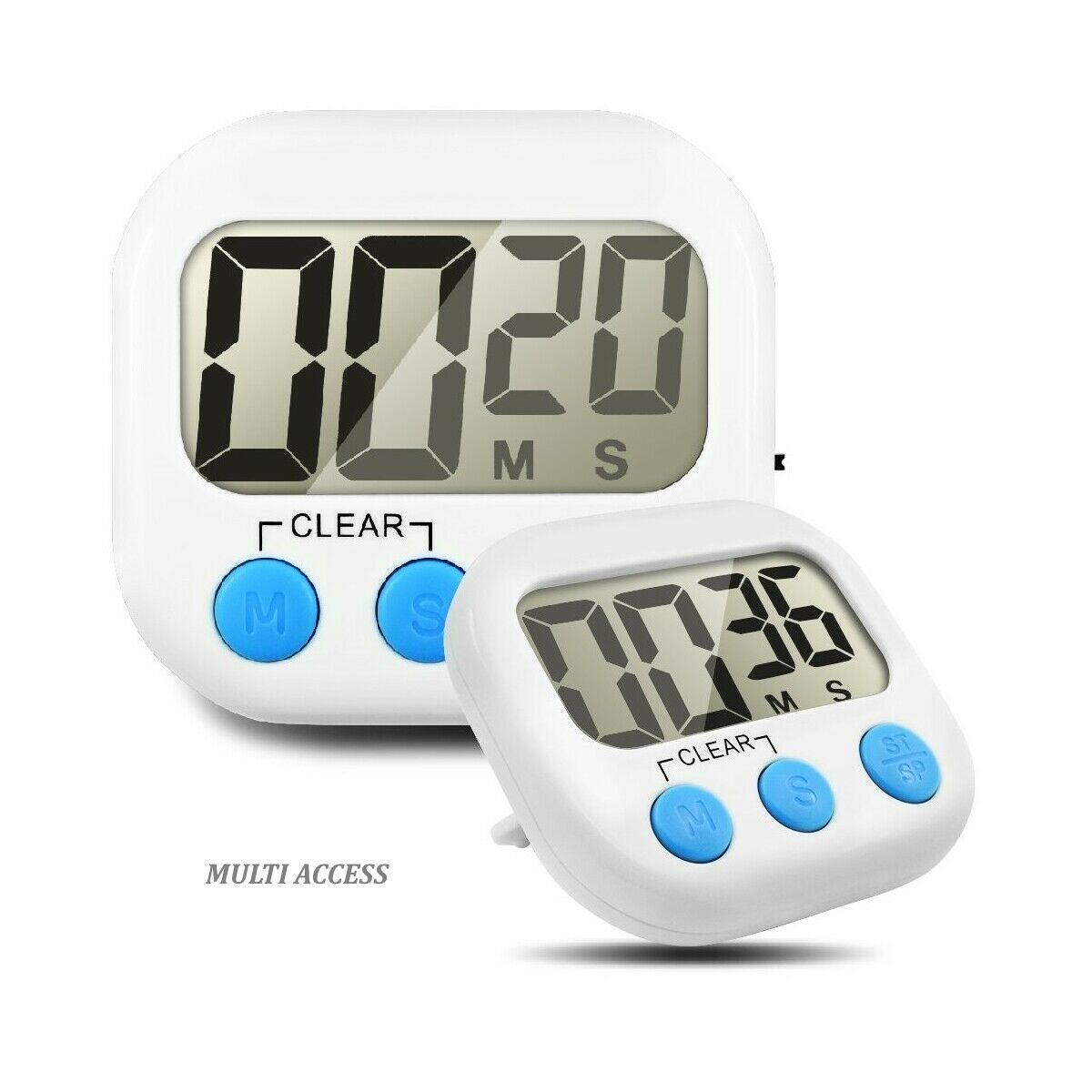 Minuteur de cuisine numérique digital écran LCD alarme sonore magnétique