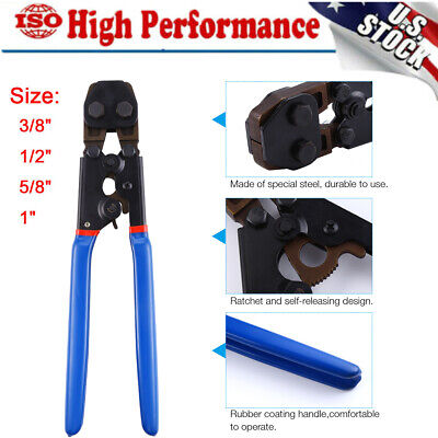 Pex Cinch Crimp Crimper Crimping Tool For Ss Hose Clamps Sizes From 38 To 1