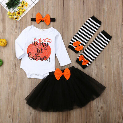 US Infant Baby Girl Newborn First Halloween Costume Romper Outfit Dress Clothes