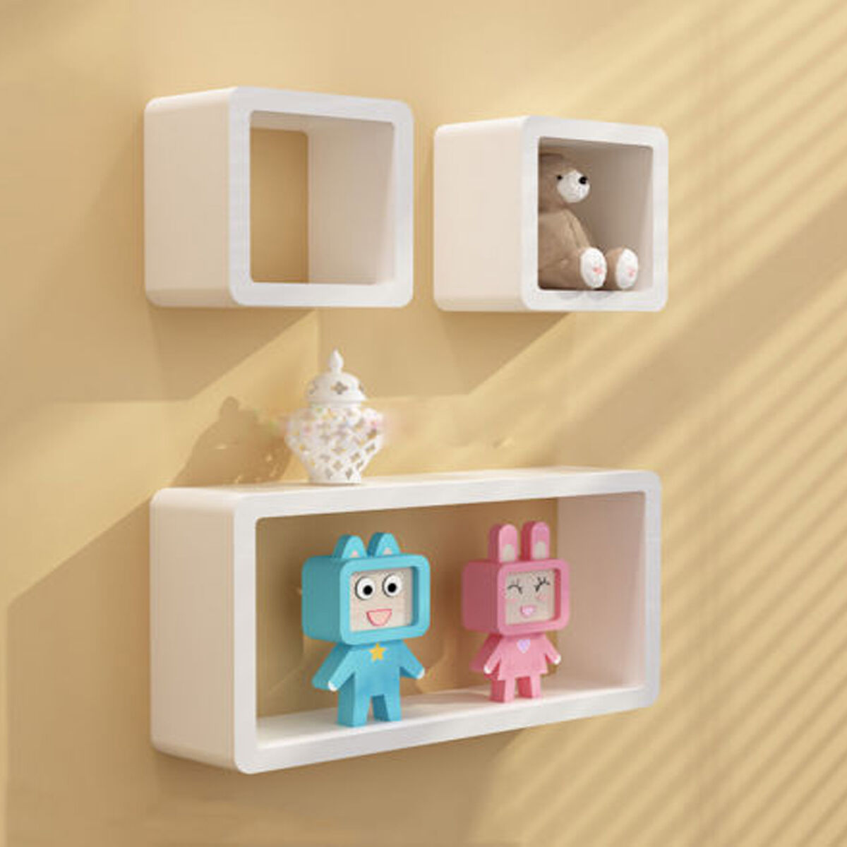 Amazing Decorative Wall Cubes Shelves Ornament - The Wall Art ...
