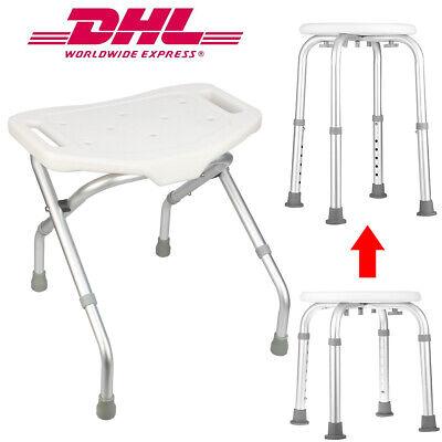 Badhocker klappbar/Verstellbar Duschstuhl Badestuhl Duschhocker Duschhilfe