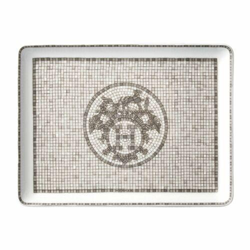 NEW HERMES MOSAIQUE AU 24 PLATINUM SUSHI PLATE SMALL #P035089P BRAND NIB F/SH