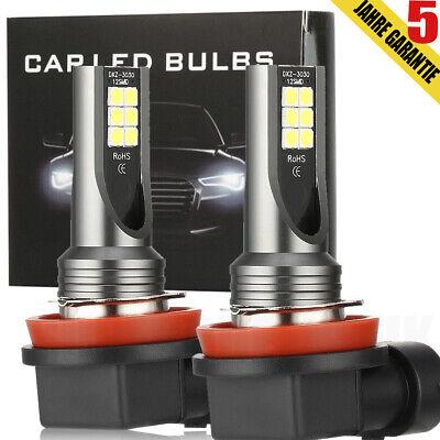 2× H8 H9 H11 LED Auto 180W Nebelscheinwerfer Tagfahrlicht Weiß 16000LM 6000K 12V