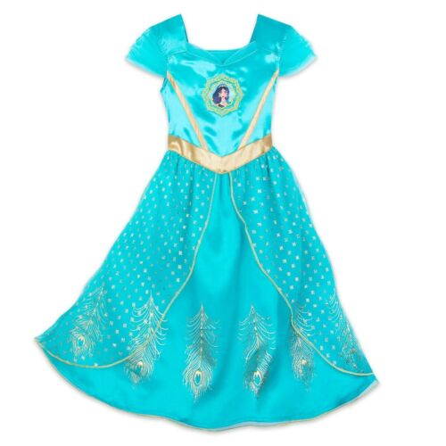 NWT Disney Store Jasmine Deluxe Nightgown Costume 4,5/6,7/8,9/10 Girls Aladdin