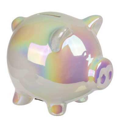 mit Schloß schimmernd klein Geldgeschenke Geschenk Spardose (Keramik-sparschwein)