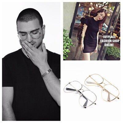Women Men Titanium Frame Glasses Optical Clear Lens Eyeglasses Fake Eyewear (Fake Eyeglasses)