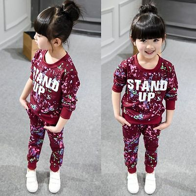 2pcs Toddler Infant Kids Girls Outfits Tops Dress + Long Pants Kids Clothes Set