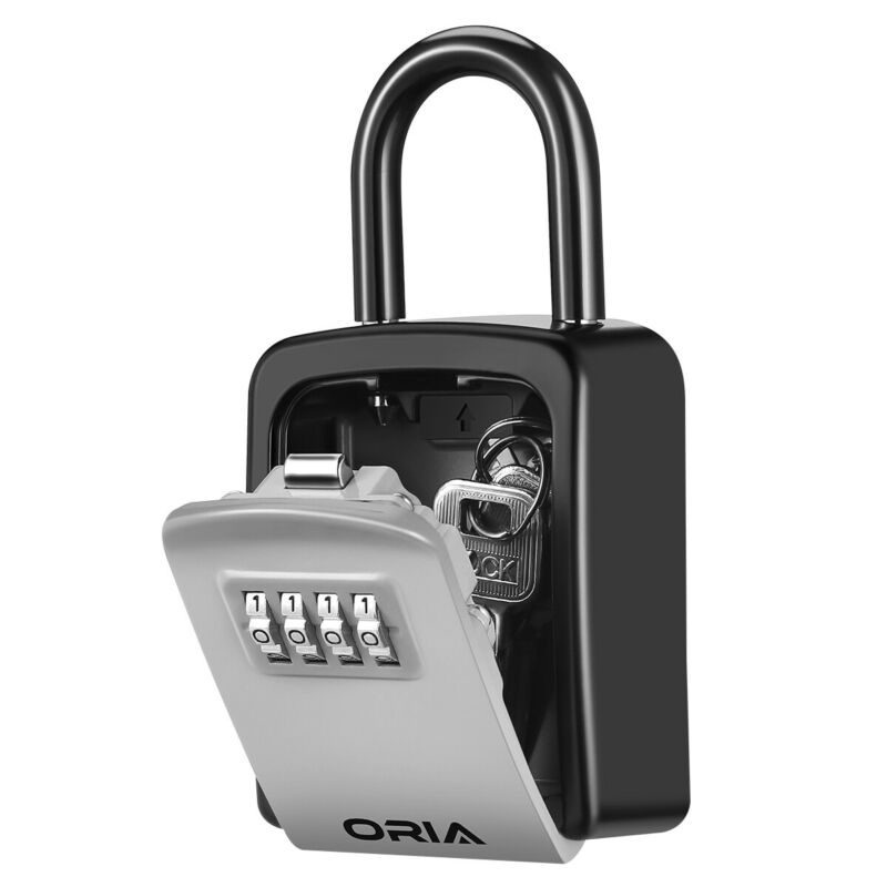 Padlock Outdoor 4-Digit Combination Password Keys Lock Storage Safe Security Box