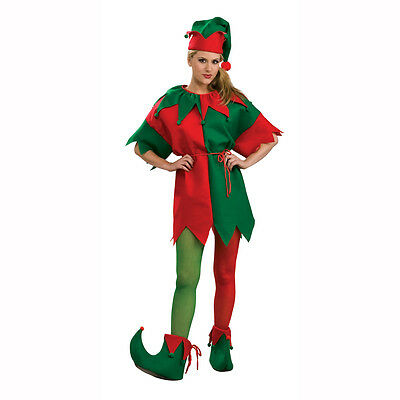 Red Green Costume (Elf Red & Green Adult Costume Tights Rubies)