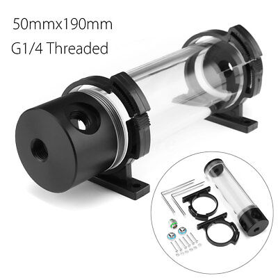 Acrylic Cylinder Reservoir Water Tank G1/4 50mm x 190mm For PC Liquid Cooling
