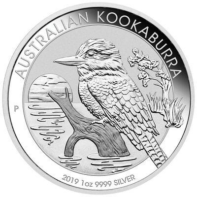 2019-P Australia 1 oz. Silver Kookaburra $1 Coin GEM BU SKU55380