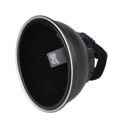 Studio Speedlight Reflector w/ Grid Photo Lighting Modifier for DSLR Nikon Canon