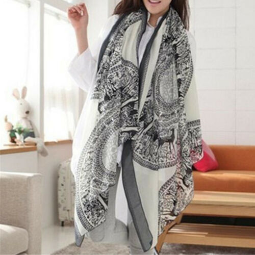 Scarf - Women Lady Fashion Pretty Long Soft Chiffon Scarf Wrap Shawl Stole Scarves New
