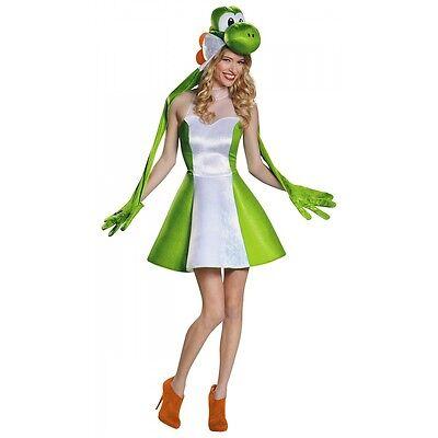 Female Super Mario Costume (Yoshi Costume Adult Female Super Mario Brothers Halloween Fancy)