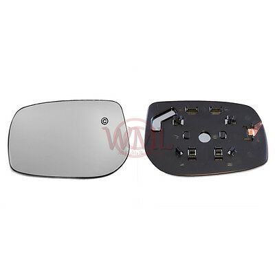 TOYOTA YARIS 2006 2009 DOORWING MIRROR GLASS SILVERNONHEATED  BASELEFT SIDE