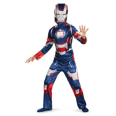 Patriot Costume (Iron Man 3 Patriot Child Classic Costume 2013 Movie Avengers Disguise)