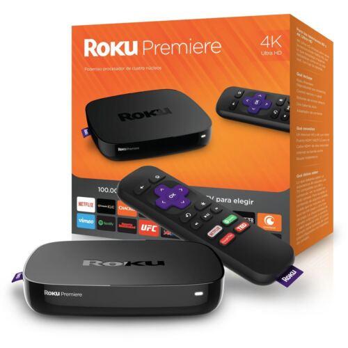 Roku Premiere Streaming Media Player Black 4620R