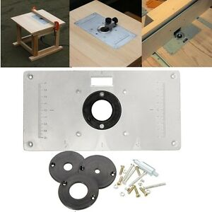235 x 120 x 8mm Woodworking Aluminum Router Table Insert Plate with ...