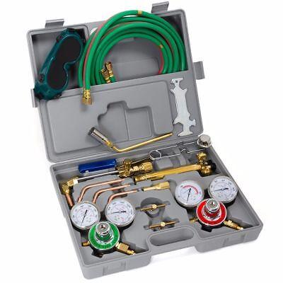 Oxygen Acetylene Welding Kit Harris Type Cutting Torch Welding Hose Goggles Tool
