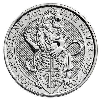 2016 Great Britain 5 Pound 2 Oz Silver Queen's Beast Lion SKU41711