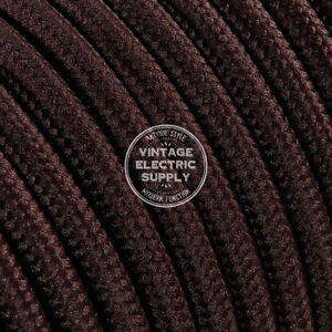 Brown Round Cloth Covered Electrical Wire - Braided Rayon Fabric Wire
