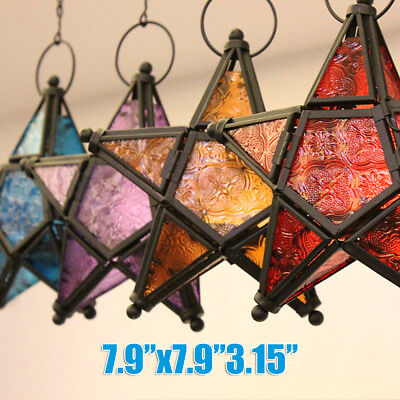 Moroccan Star Lanterns Lamp Hanging Light Candle Holder Home Garden Party Decor